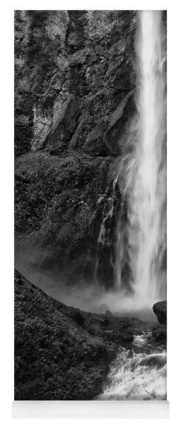 Multnomah Falls In Black And White Yoga Mat