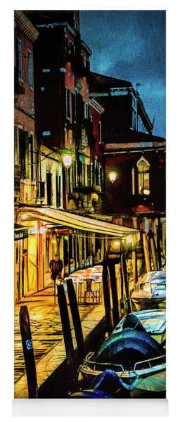 Murano At Night. Yoga Mat