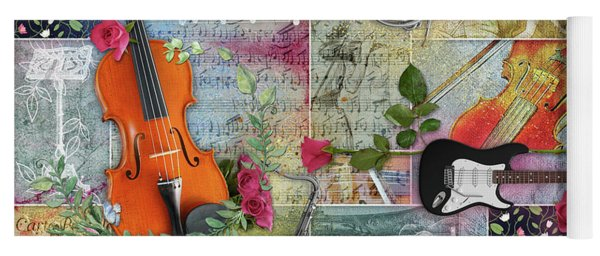 Musical Garden Collage Yoga Mat