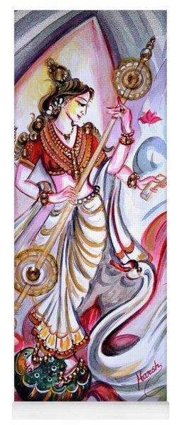 Musical Goddess Saraswati - Healing Art Yoga Mat