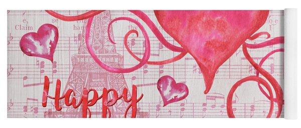 Musical Valentine Yoga Mat