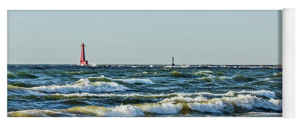 Muskegon South Breakwater Light Yoga Mat