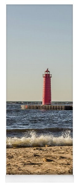 Muskegon South Pierhead Light Yoga Mat
