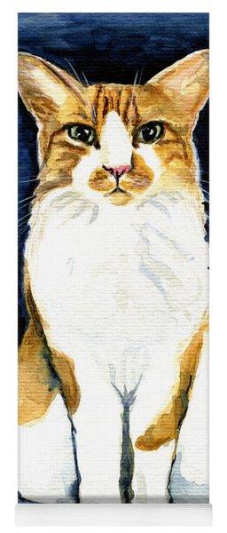 Mustached Bicolor Beauty - Cat Portrait Yoga Mat