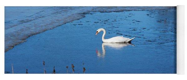 Mute Swan Swimming Yoga Mat