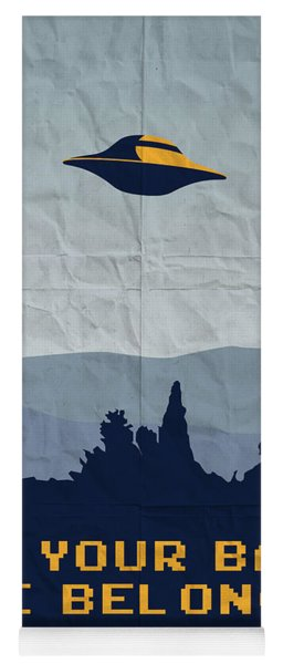 My All Your Base Are Belong To Us Meets X-files I Want To Believe Poster  Yoga Mat