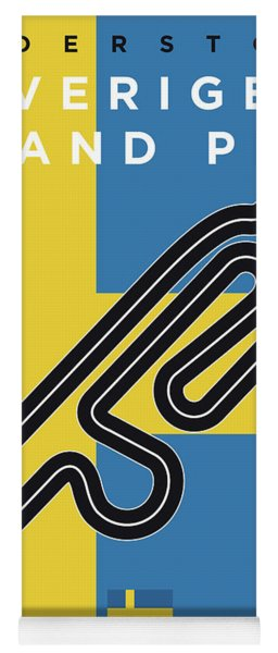My F1 Anderstorp Race Track Minimal Poster Yoga Mat