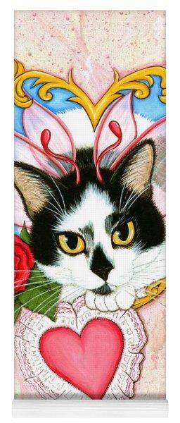 My Feline Valentine Tuxedo Cat Yoga Mat