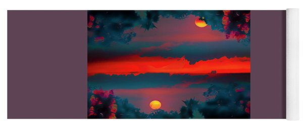 Yoga Mat featuring the photograph My First Sunset- by JD Mims