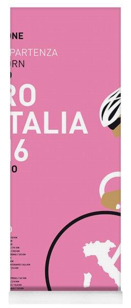 My Giro Ditalia Minimal Poster 2016 Yoga Mat