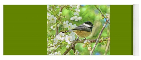 My Little Chickadee In The Cherry Tree Yoga Mat