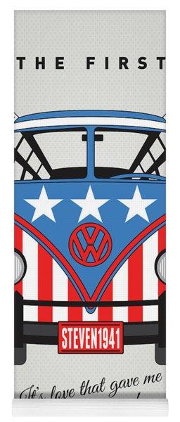 My Superhero-vw-t1-cap America Yoga Mat