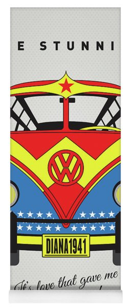 My Superhero-vw-t1-supermanmy Superhero-vw-t1-wonder Woman Yoga Mat