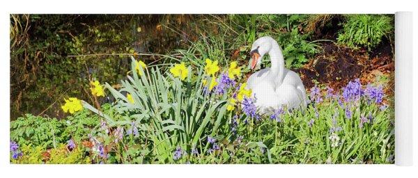 Mylor Bridge Nesting Swan Yoga Mat