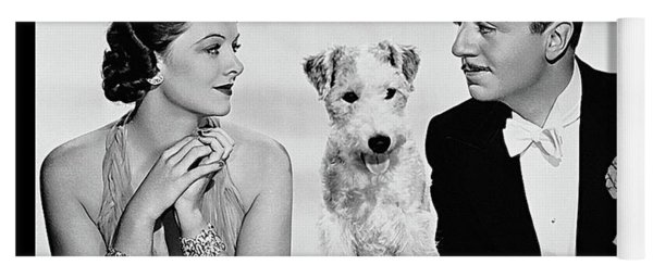 Myrna Loy Asta William Powell Publicity Photo The Thin Man 1936 Yoga Mat