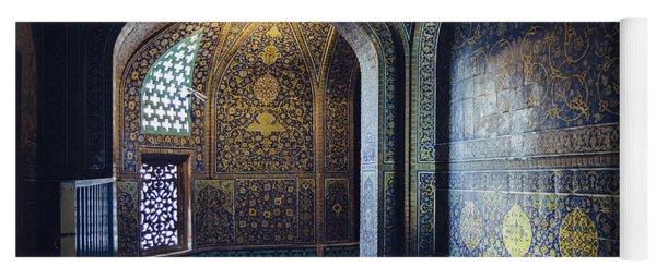 Mysterious Corridor In Persian Mosque Yoga Mat