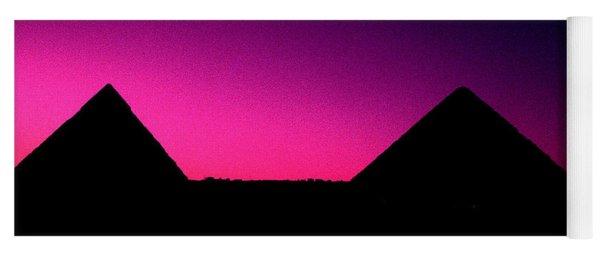 The Pyramids At Sundown Yoga Mat