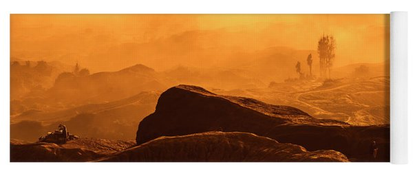 Yoga Mat featuring the photograph mystical view from Mt bromo by Pradeep Raja Prints