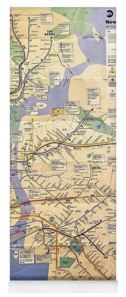 N Y C Subway Map Yoga Mat