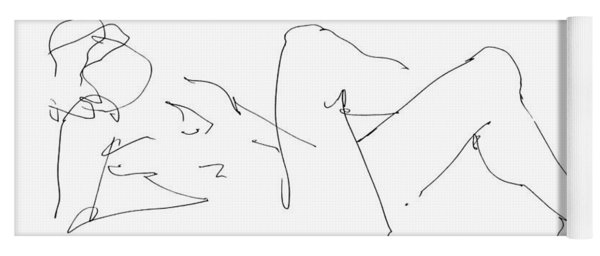 Naked-male-drawing-14 Yoga Mat