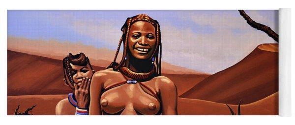 Himba Girls Of Namibia Yoga Mat