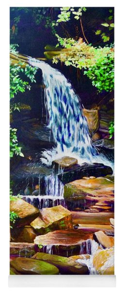 Nantahala Waterfall Yoga Mat