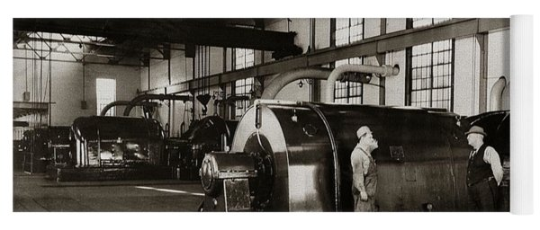 Nanticoke Pa Electrical Generators Glen Alden Mines Power Plant 1945 Yoga Mat