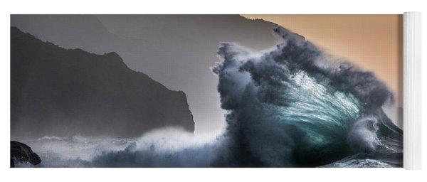 Napali Coast Hawaii Wave Explosion IIi Yoga Mat