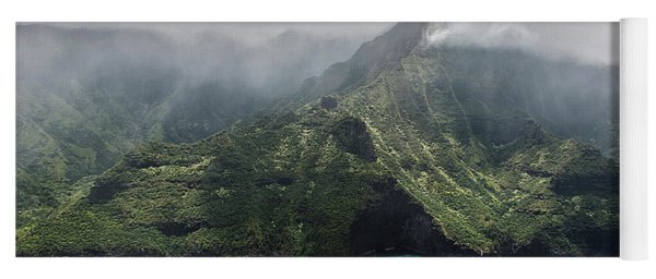 Napali Coast In Clouds And Fog Yoga Mat