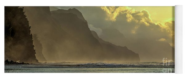 Napali Coast Kauai Hawaii Dramatic Sunset Yoga Mat