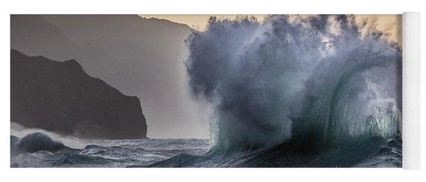Napali Coast Kauai Wave Explosion Yoga Mat