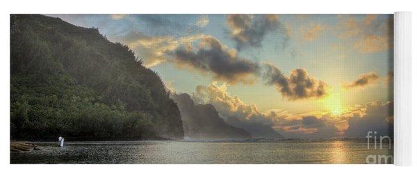 Napali Coast Sunset Kauai Yoga Mat