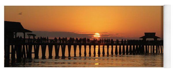 Naples Pier At Sunset Yoga Mat