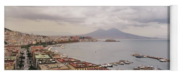Naples With Vesuvius  Yoga Mat