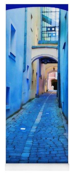 Narrow Blue Passage  Yoga Mat