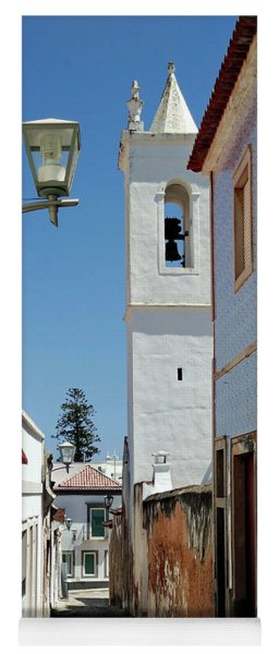 Yoga Mat featuring the photograph Narrow Street In Tavira - Portugal by Barry O Carroll