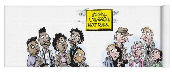 National Conversation About Race Yoga Mat