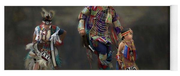 Native American Dancers Yoga Mat