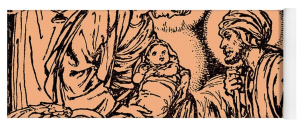 Nativity Scene, New Testament, Bible  Christ Is Born Yoga Mat