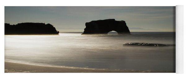 Natural Bridges State Beach Sand B/w Yoga Mat