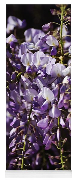 Natural Wisteria Bouquet Yoga Mat
