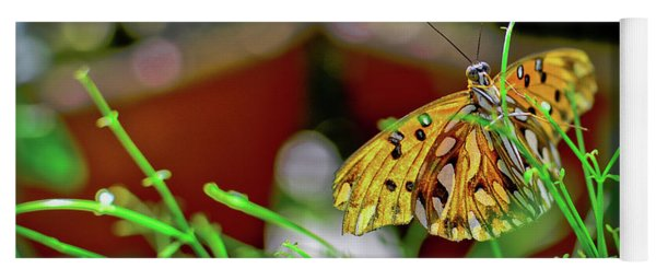 Nature - Butterfly And Plants Yoga Mat