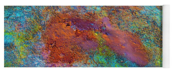 Nature's Abstract Volcanic Minerals Yoga Mat