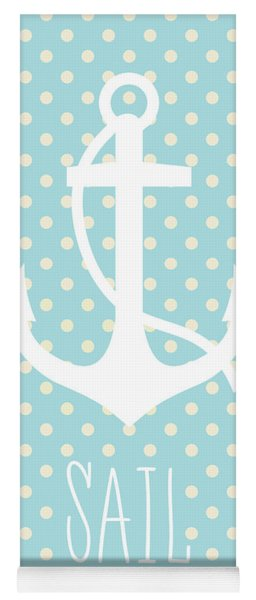 Nautical Anchor Yoga Mat