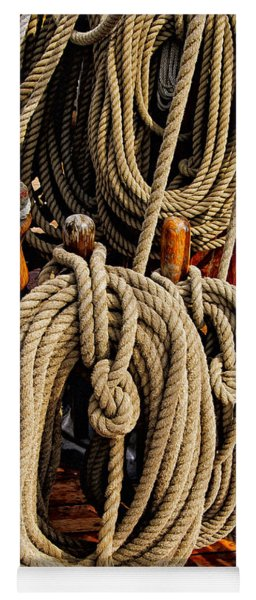 Nautical Knots 17 Oil Yoga Mat