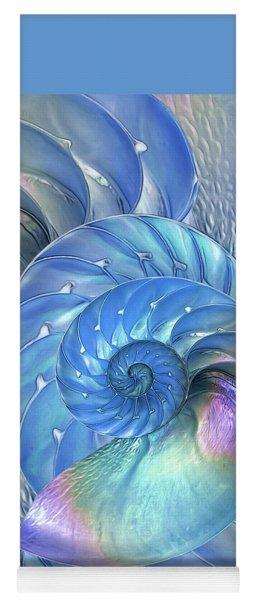 Nautilus Shells Blue And Purple Yoga Mat