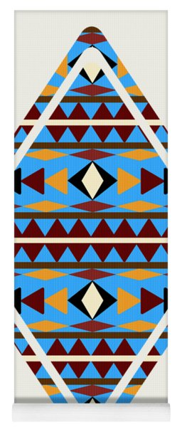 Navajo Blue Pattern Art Yoga Mat
