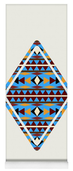 Navajo Blue Pattern Art Yoga Mat
