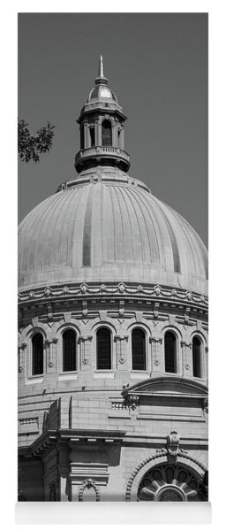 Naval Academy Chapel - Black And White Yoga Mat