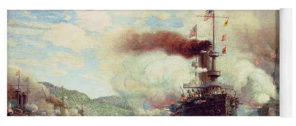Naval Battle Explosion Yoga Mat